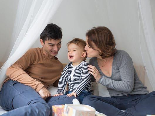 rire bebe parents