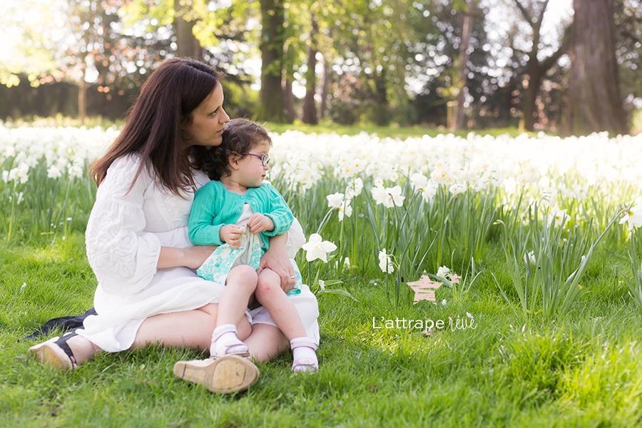 photo dans les fleurs