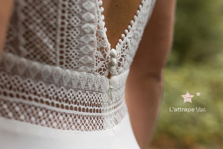détail robe mariée