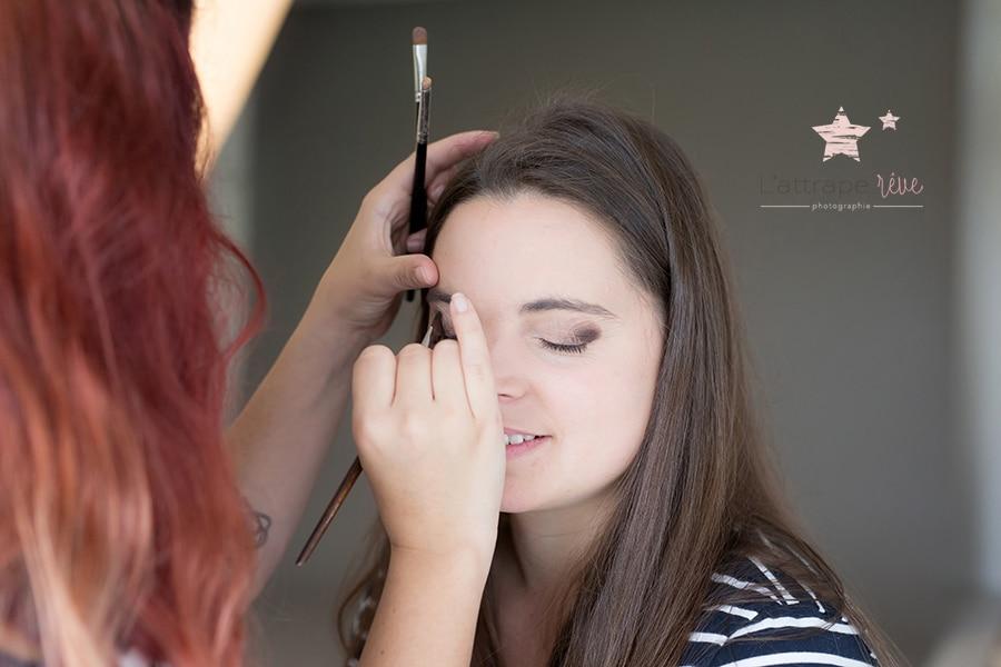 maquillage séance grossesse