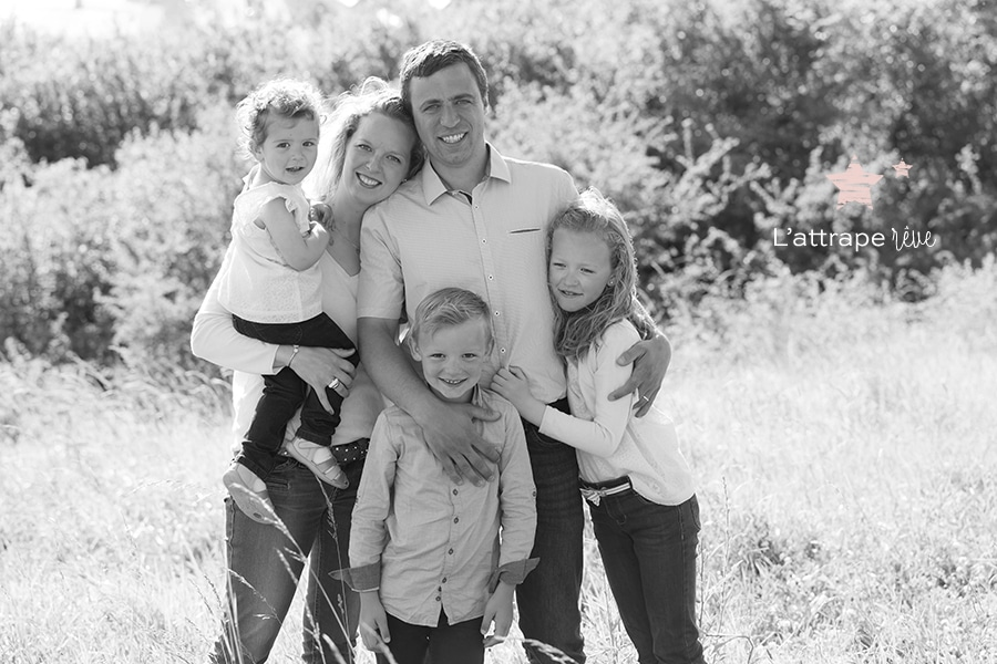 Portrait de famille naturel