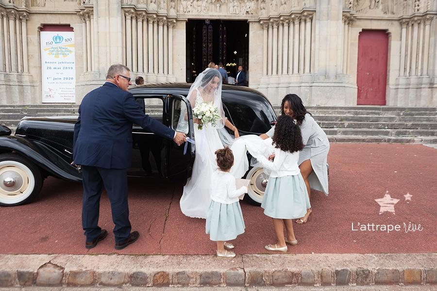 arrivée mariée