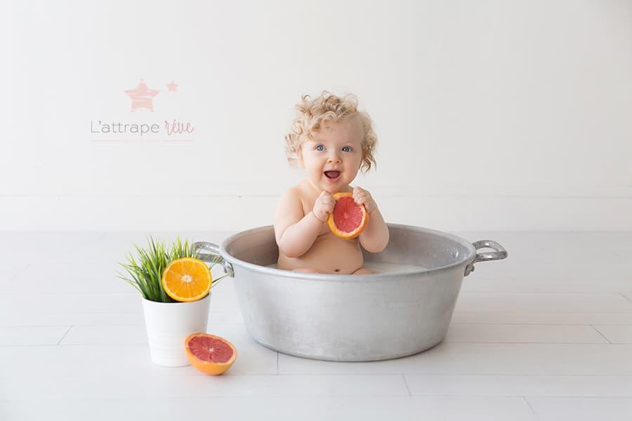 bain de lait agrumes